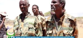 Puntland presents to the press soldiers defected from Somaliland