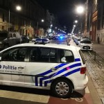 Police pictured at the scene where a man attacked soldiers with a knife and was shot in the Boulevard Emile Jacqmain - Emile Jacqmainlaan in the city centre of Brussels, Friday 25 August 2017. BELGA PHOTO LAURIE DIEFFEMBACQ